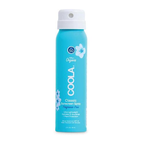 Travel Size Classic Sunscreen Spray SPF 50 Fragrance-Free