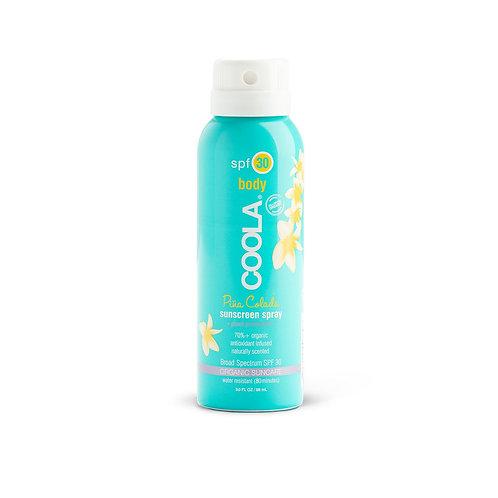 COOLA Body Sunscreen Spray spf 30, 3oz Pina Colada
