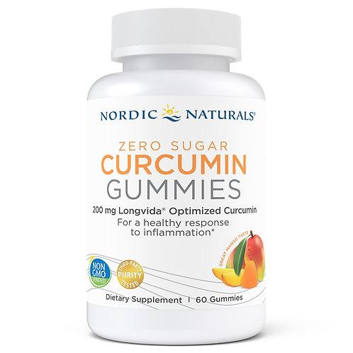 Nordic Naturals Zero Sugar Curcumin Gummies, 60 ct