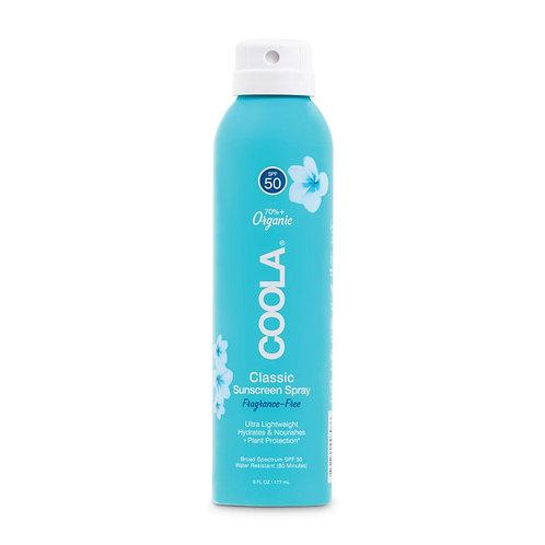 Classic Sunscreen Spray SPF 50 Fragrance-Free