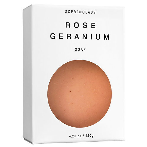 SopranoLabs Rose Geranium Vegan Soap