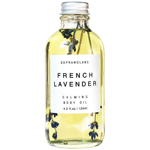 SopranoLabs French Lavender Calming Body Oil