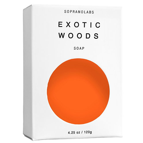 SopranoLabs Exotic Woods Vegan Soap