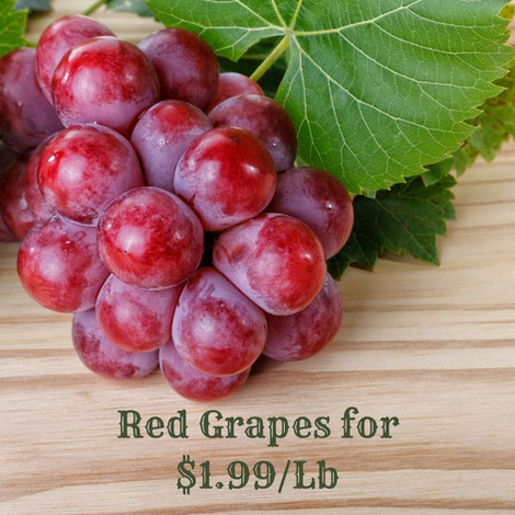 Red Grapes for $1.99/Lb