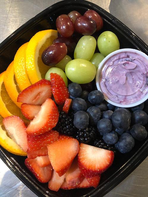 Fruit Tray & Berry Yogurt Dip