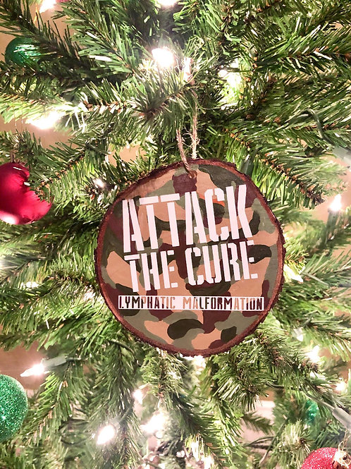 ATTACK the Cure Wood Christmas Ornament