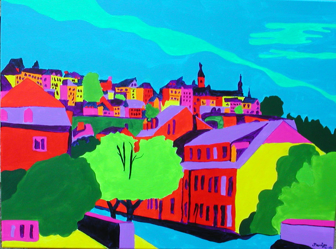 Luxembourg cityThe Grund SCotts painting 3 for John Sutherland 60cm x 80cm.jpg
