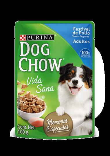 Dog Chow Festival de Pollo  Trozos Jugosos