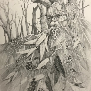 Cynthia Boyle 'The Green Man  (after the fires)'