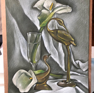Jenny Wong 'Calla Lilly and Swans