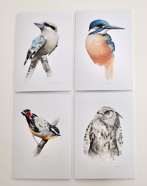 Nadine Dudek Greeting cards set of 4