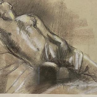 Barbara McManus 'Male Figure Study #1'