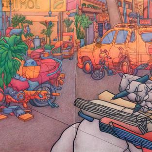 Damon Kowarsky 'Phnom Penh Streetscene II'