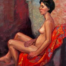 "Roz McQuillan ""seated-female-nude'"