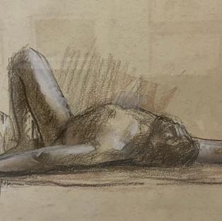 Barbara McManus 'Male Figure Study #3'