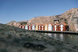 Les cabanes des pêcheurs de Smögen