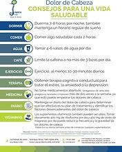 Headache Healthy Living Tips (Spanish)