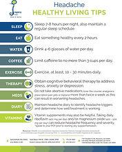 Headache Healthy Living Tips (English)