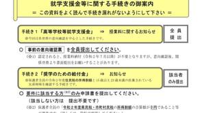 就学支援金の手続き開始(R02.06.17)