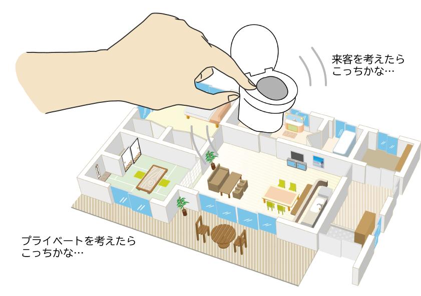 注文住宅 トイレ 配置 悩む 来客 プライベート