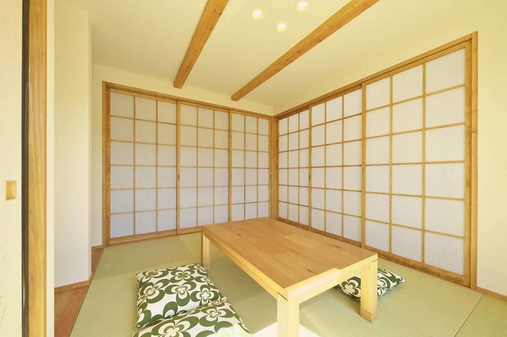 和室 畳スペース リビング 黒田工務所 イノス 山形 注文住宅