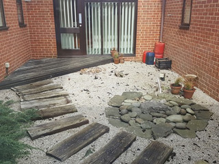 Our courtyard garden is looking a little unloved and we are appealing to our patients for help!