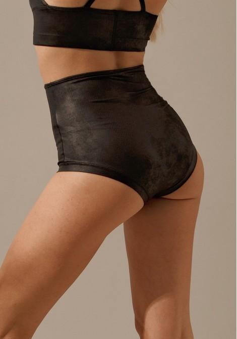 Shorts Madonna leather schwarz hinten