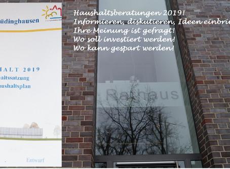 CDU stimmt für den Haushalt 2019 -Haushaltsrede der CDU zum Haushaltsenwurf 2019