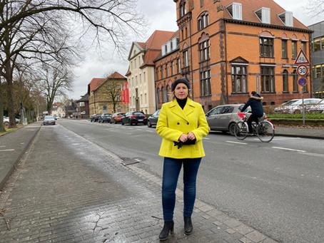Priorität für Fahrradfahrer auf der Steverstraße