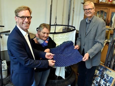 MdB Marc Henrichmann besucht die Blaudruckerei