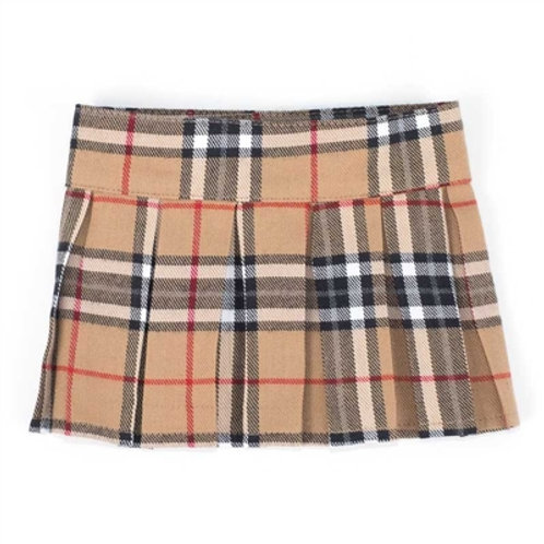 Tan Plaid Skirt