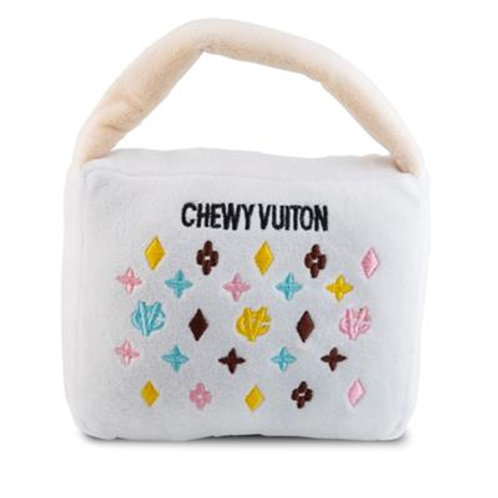 White Chewy Vuiton Handbag
