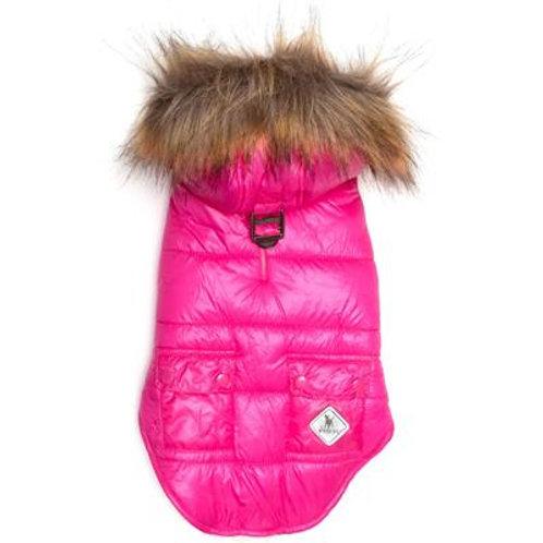 Pink Telluride Puffer Hoodie