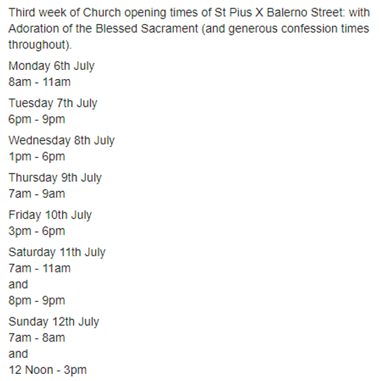 St. Pius X - Church Opening Times..png
