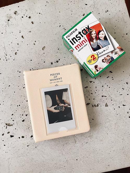 Álbum para Instax Mini - 65 fotos - Pêssego