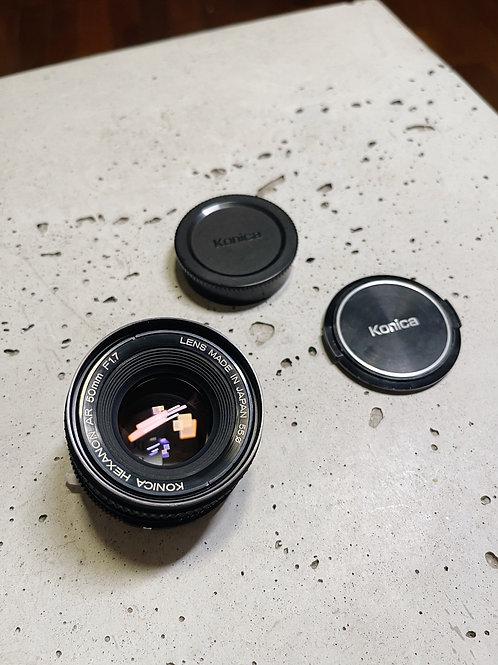 Lente Konica 50mm 1.7 AR