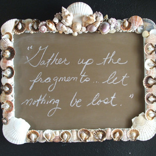 Sea Shell Chalkboard