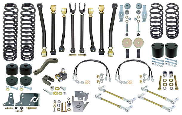 "RJ - JK 2D Johnny Joint 4"" Suspension System (w/ F&R Sway Bar Links)"