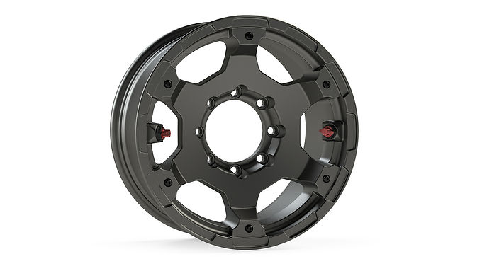 "Nomad Off-Road Wheel – Deluxe – 8x6.5"" – Titanium Gray"