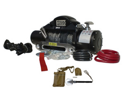 ENGO 12,000 LBS. SRS-SERIES WINCH | SYNTHETIC ROPE WITH ALUMINUM HAWSE