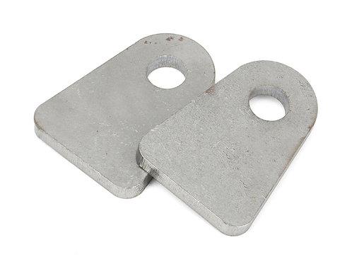 "Radius'd Flat Tab 1/4"" thick, 1/2"" hole (limit straps)"