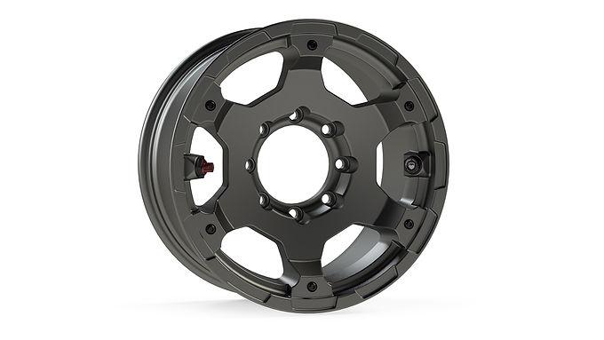 """Nomad Wheel – Base – 8x6.5"""" – Titanium Gray"""
