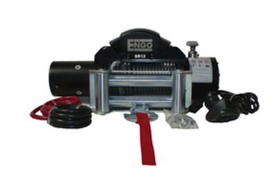 ENGO 12,000 LBS. SR-SERIES WINCH   STEEL CABLE WITH ROLLER FAIRLEAD