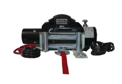 ENGO 12,000 LBS. SR-SERIES WINCH | STEEL CABLE WITH ROLLER FAIRLEAD