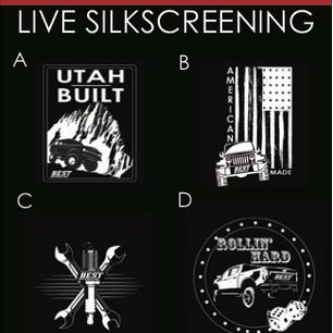 Live Silkscreen Shirt Choices