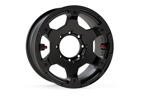 "Nomad Off-Road Wheel – Deluxe – 8x6.5"" – Metallic Black"