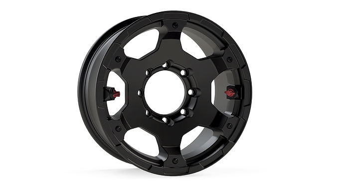"""Nomad Off-Road Wheel – Deluxe – 8x6.5"""" – Metallic Black"""