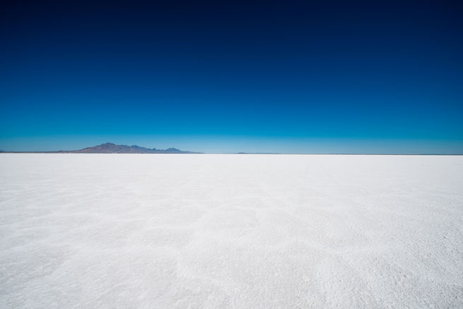 Salt Flats in Utah. Salt Flats Landscape