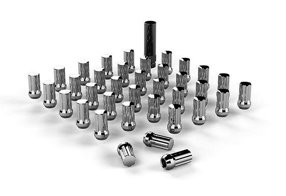 """Spline Drive Lug Nut Kit – 9/16""""x18 – Chrome – 36 pcs"""