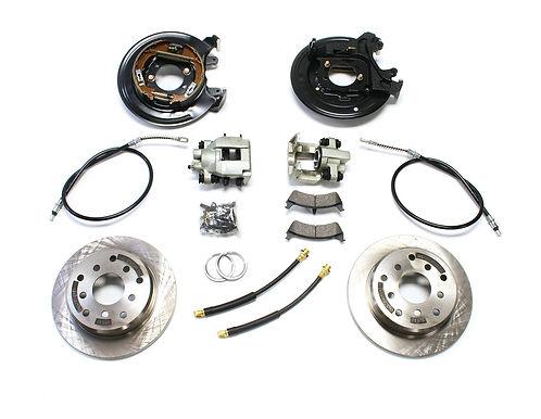 TJ: Rear Disc Brake Conversion Kit w/ E-Brake Cables